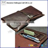 Vintage genuine leather rolling tobacco bag with strap                                                                         Quality Choice