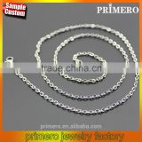 Trendy Long Chian Necklace Gold/Silver Stainless Steel O Link Chain All Match Jewelry 45-80CM Can Custom