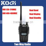 Dual Band Radio Transceiver in uhf and vhf band