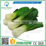 Greenflower 2016 Wholesale artificial PU Green vegetables China handmaking decoration