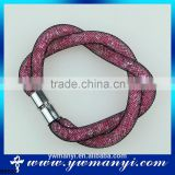 China Supplier Fashion Design crystal magnetic bracelet with colorful A0003