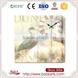 Popular sales elegant green crane pattern quartz wall clock movement mechanism