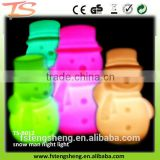 Kid's style color changing snow man lamp for Christmas/New Year Decoration LED night light