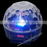 new products on china market 9W DMX LED crystal disco ball RGB christmas lights projector