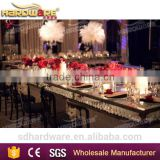 wedding crystal chandelier tables,wedding crystal glass dining tables                                                                         Quality Choice