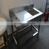 Food factory cheap stainless steel price sorting table/fish cleaning machine