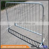 Hot dipped galvanized portable pedestrian metal traffic used crowd control barriers fence