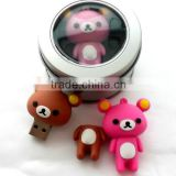 Lovely bear usb bulk buy with iron gift box, bear usb 4GB