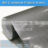 CARLIKE Removable Glue 1.52x30M PVC Stretchable 4D Car Carbon Fiber Sheet
