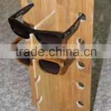 JMC520 Handcrafted Wooden Nice Quality China Made Custom Free Logo Engrave Bamboo Sunglasses Display