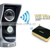 Danmini 720P WiFi Video Door Phone,2.4G Doorbell WiFi, Support Wireless Unlock iOS Android APP