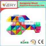 Playing together VERYMAG Pre-school Learning safe magnetic construction For Children 3d Puzzle Diy Toy