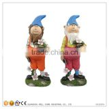 Holding Flower Pot Garden Dwarfs Statue Dwarf With A Potted Plant