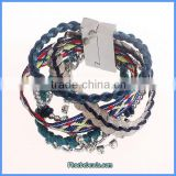 Wholesale Ready Stock Braided Leather Personalized Bracelet FHB-003C