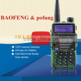 BAOFENG UV-5RB 5R PLUS New Version 136-174/400-520MHZ Dual Band Radio+ earpiece walkie talkie