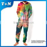 plus size adult silk onesie pajamas jumpsuit for men