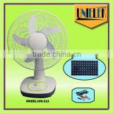 Solar sun sensor solar fan reversible 12V dc fan ac dc oscillating table fan
