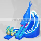 Hot selling high quality commercial inflatable pool slide,inflatable shark slide,used fiberglass water slide for sale
