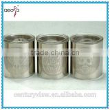 small votive glass candle holder with steel decoration tea light candle holders wholesale