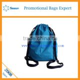 Simple design durable Custom Print travel shope bag drawstring backpack organizer travel bags