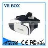 2016 New 3D Product !!! polarizer 3d vr glasses google cardboard with blue film and remote controller virtual reality vr box 2.0