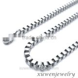 2mm womens high polished box type 316l stainless steel neck chains