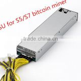 PSU Power Supply For Bitmain Antminer S7 Bitcoin Miner Newest Batch APW3-12-1600 power supply,1600watts power supply