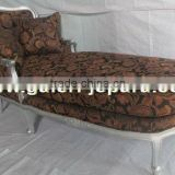 French Mahogany Chaise Lounge Sofa - Lazy Sofa for Hotel Rooms - Antique Furniture Jepara