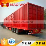 Tri-axles Van V type transport close Cargo Strong Box Semi Trailer