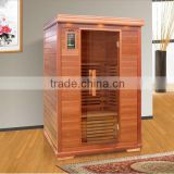 Infrared sauna shower combination,2 persons sauna room