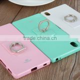 For sony xperia m4 aqua cell phones back cover cases, 9 color mix pearl jelly tpu ring case