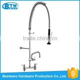 china faucet factory custom Electroplated Brass pre-rinse instant heating water commercial kitchen sink faucet