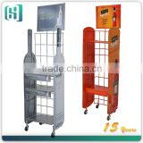 2013 hot sale 3 layers metal used wire display racks/ wine display rack/bottle display rack