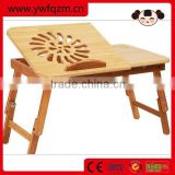 Bamboo portable computer desk folding table