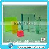 free standing tabletop printed custom made laser cut colorful square acrylic block for Christmas gift wholesale