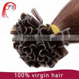 Wholase best quality 1g nail tip/u tip hair extensions pre-bonded hair remy human hair extensions