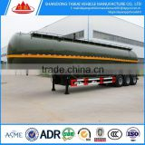 3 Axles aluminum fuel tank semi trailer/fuel tanker trailer dimensions