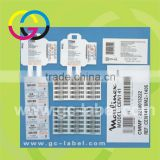High quality vinyl material shipping barcode tags self-adhesive stickers and labels