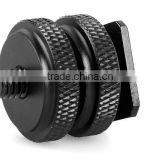 Custom double threaded camera screw