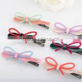 Colorful bridal hair ornament fashion metal hair clip handmade resin butterfly hair clip