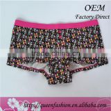 Lady underwear with printed flowers non-disposable woman panties
