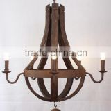 MC2004-5 antique wood vintage Chandelier with 5 lights chandelier Vintage Industrial Furniture Chandelier Light Wood Lamp