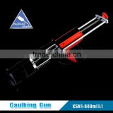 600ml 1:1 cartridge caulking gun,Manual Extruding sprayer ,two component dispensing pistol for construction