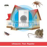 Humane Animal Repellent with LED Light and Ultra-Sonic Deterrent insect pest bug control trap