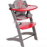 European Beech wood baby high chair baby highchair