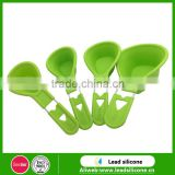 Unbreakable Durable Silicone Heart-shaped Measuring Spoon