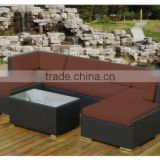 Outdoor Modern Rattan 6-seater All Weather Gorgeous Sofa Set