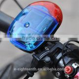5 LED Bike Bicycle Light Loud Electronic Horn Bell Alarm Voice Speaker 8 Tones