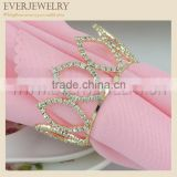 2016 China Rhinestone napkin ring,crown napkin ring