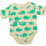 High Quality 100% Organic Cotton Baby bodysuits and Comfortable baby rompers with Short Sleeves different color baby bodysuits